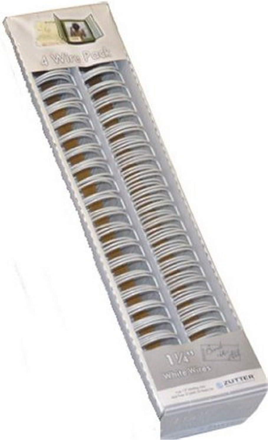 Zutter Wires Color Blanco de 3,17 cm, 4 unid