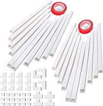 314 Cable Concealer, PVC Cord Covers Raceway Kit, Paintable Cord Concealer System, Cord Wires, Hiding Wall Mount TV Power Cords in Home Office, 20X L15.7in X W0.95in X H0.55in (CC01-2Pack)