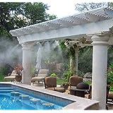 【 ミスト シャワー 】 熱中症 対策  夏 を 涼しく 快適 に過ごそう!! エコ 打水 効果 霧 水 庭 ガーデン MI-MISTSW-6-WH 【全6種】