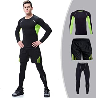 Men's Tracksuit Athletic Sports Casual Mens Sports Fitness Clothing Pants Top Long Sleeve Sports High Elasticity Sweat-Wic...
