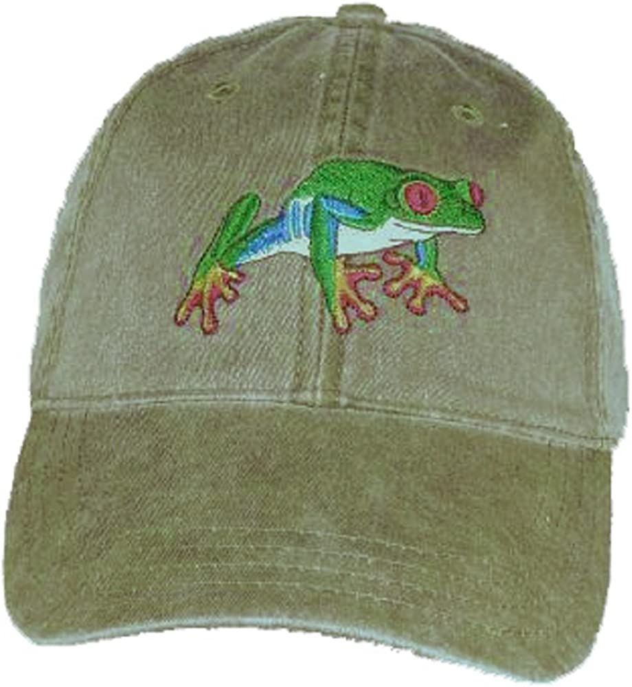 unisex Red-Eyed Tree Frog Cap Cheap mail order shopping Embroidered Cotton