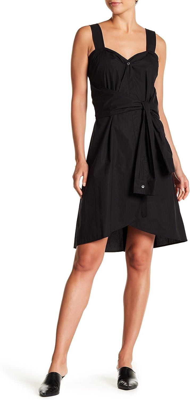 Derek Lam 10 Crosby Sleeveless Tie Front Stripe Dress
