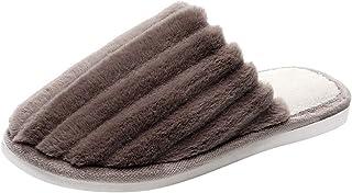 Luotuo Hommes Pantoufles en Mousse À Mémoire Haute Densité Chaude Intérieur Doublure Anti-dérapant Glisser Chaussures Slip...