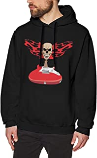 ROUND Men 'in The Air Tonight' Death Metal Humor Novelty Sarcasm Funny Black Hoodie Sweatshirt