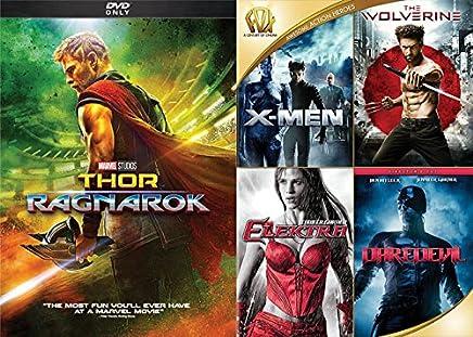 Marvel Super DVD Moive Bundle- X-Men & The Wolverine & Elektra & Daredevil &Thor Ragnarok 2- DVD Collection