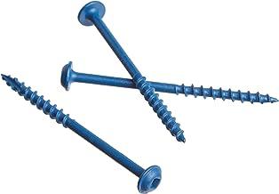 "Kreg SML-C250B-125 blauw-kote, weerbestendige zakschroeven, 2-1/2"" #8 grof-draad, sluiterkop (125 telling)"
