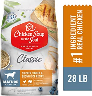 Chicken Soup for The Soul Mature Dog Food - Chicken, Turkey & Brown Rice Recipe