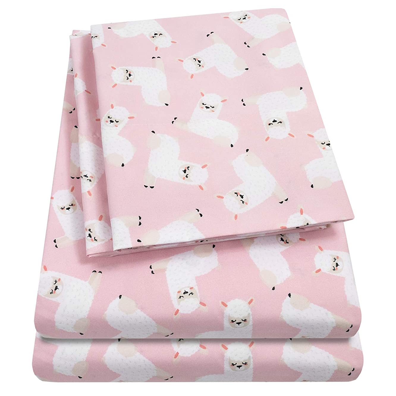 1500 Supreme Kids Bed Sheet Collection - Fun Colorful and Comfortable Boys and Girls Toddler Sheet Sets - Deep Pocket Wrinkle Free Hypoallergenic Soft and Cozy Bedding - Twin XL, Llamas