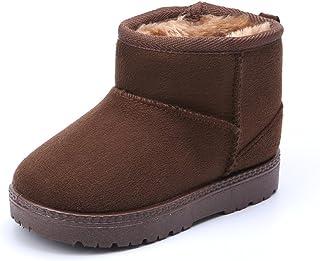 أحذية شتوية MK MATT KEELY أحذية للأولاد والبنات ناعمة ودافئة للأطفال الصغار أحذية ثلج سوداء (طفل صغير/طفل صغير)