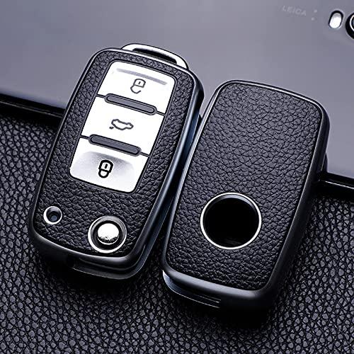Roki-X Caso de la Cubierta de la Llave del Coche de TPU Suave Adecuado para VW Polo Golf Pas-Sat para Skoda Octavia A5 Bora Jetta Seat Ibiza Leon Accessories Auto Key (Color Name : Sliver)