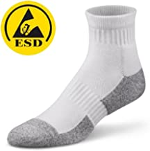 StaticTek SC0026 ESD Apparel, Static Control Socks, ESD Accessories, Medium (1 Pair)
