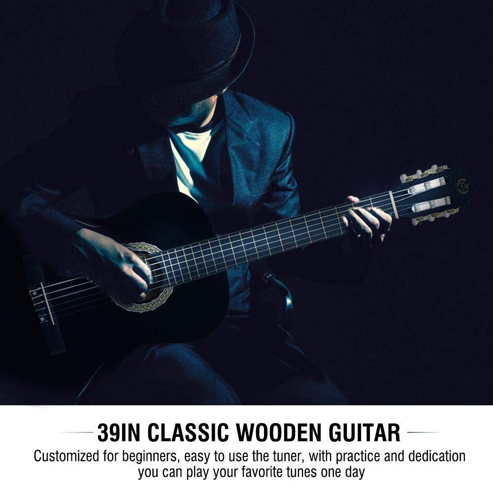 Guitarra Española, 39 Pulgadas Guitarra Clásica de Madera con ...