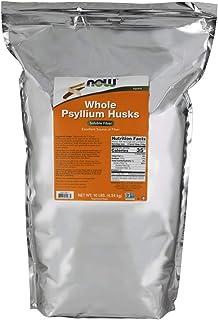 NOW Supplements, Whole Psyllium Husks, Non-GMO Project Verified, Soluble Fiber, 10-Pound