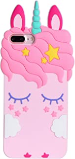 Joyleop Unicorn Case for iPhone 6 Plus 7 Plus 8 Plus,Cute 3D Cartoon Animal Cover,Kids Girls Soft Silicone Gel Rubber Kawaii Character Cases,Fashion Unique Shockproof Shell Protector iPhone 6s + 5.5""