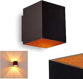 1 x 40 Watt QAZQA Dise/ño Aplique dise/ño negro//oro FOLD Aluminio Otros Adecuado para LED Max