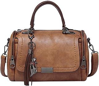 BUKESIYI Damen Tasche Umhängetasche Handtasche Frauen Klein Schultertasche Weekender Lack PU Leder CCDE77152