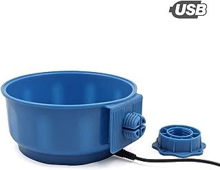 PETLESO Heated Dog Bowl - Indoor Heated Dog Water Bowl, Blue, 600ML(20.5OZ)