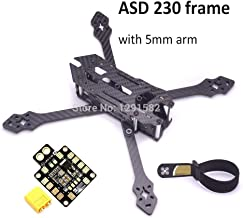 Kamas ASD 230 230mm 5 inch True X with 5mm Arm Carbon Fiber Frame Quadcopter Systems PDB XT60 W/ BEC for XBEE FPV Racing Drone - (Color: Without PDB)