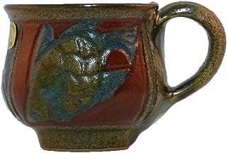 清正陶器 カップ_ソーサー (赤) φ10cm 赤絵魚紋コーヒーカップ