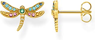 Thomas Sabo Ladies-Ear Studs Dragonfly 925 Sterling Silver Yellow Gold Plating H2051-315-7