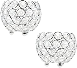 Fenteer 2X Silver Crystal Candle Candleholder Table Centerpiece Ornaments Wedding Supplies *
