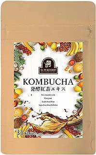 コンブチャ 発酵紅茶エキス (31日分)ダイエットサプリ KOMBUCHA ダイエット サプリメント 生酵素 生サプリ 炭 チャコール 竹炭 酵素 生酵素 麹 腸活