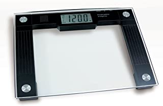 Ideaworks JB5824 Extra Wide Talking Scale-Visual & Voice Display Scale- 550 Pounds Max-Tamper Glass-Extra Wide Width-Large LCD Display-Tap On & Off Auto Function