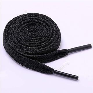 healthwen Cordón de Zapato Plano de una Sola Capa de 1 Pieza Cordón de Material de poliéster Ancho Multicolor