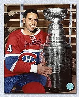 Jean Beliveau Autographed Picture - 8x10 Cup - Autographed NHL Photos