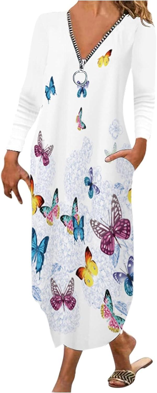 Jasalu V Neck Zipper Dress for Women - Solid Color Soft Dresses