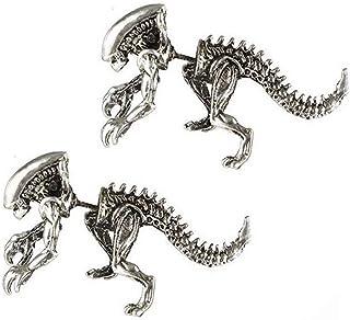 Shinmond Gold Vintage 3D Dinosaur Earrings Cartilage Earring Cool Alien Earrings Jewelry for Women