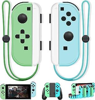 Joy Pad Controller, controle sem fio Joy Con substituto com tema de cruzamento animal, compatível com Nintendo Switch L/R ...