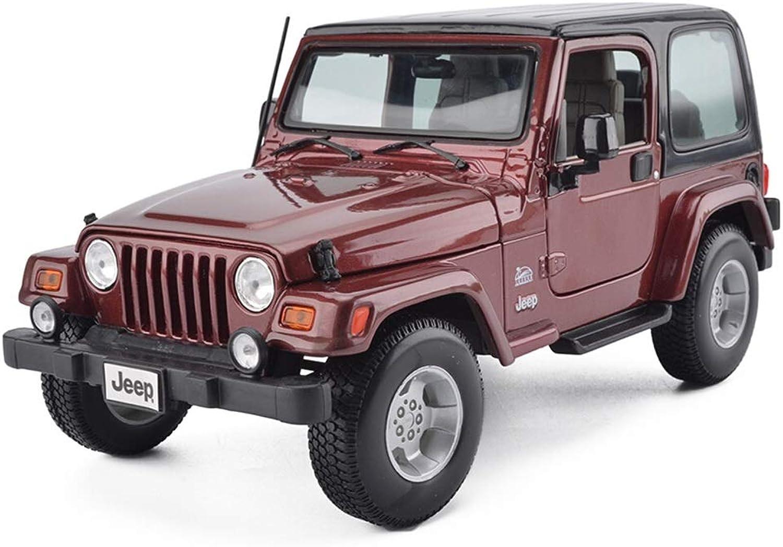 JIANPING Automodell 1  18 Jeep Wrangler Sahara Simulation Legierung Druckguss Spielzeug Ornamente SUV Sammlung Schmuck 22x10.5x10CM Modellauto (Farbe   Weinrot) B07Q7Q99DK Für Ihre Wahl    Online-verkauf