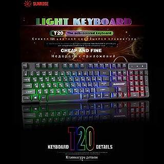 Gaming Keyboard Mechanical Feeling Keyboard With Backlight Russian Wired Keyboard