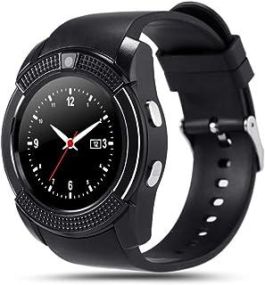 Topsale-ycld V8 Smart armbandsur Bluetooth SIM GSM-kort fitness stegräknare för iOS Android (färg: svart)