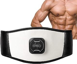 ixaer Electric Slimming Belt Waist EMS Ab Stimulator Electronic Abdominal Belt Muscle Toning Waist Trainer 6 Massage Modes...