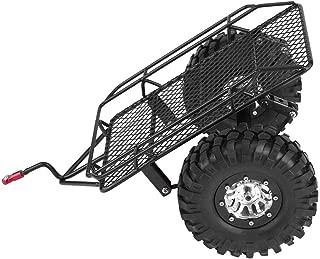 Dilwe RC Tipping Trailer, Metal Trail Car Trailer Hopper DIY Modified Trailer Accessory for D90 / SCX10 / TRX-4 1/10 Scale RC Crawler Car