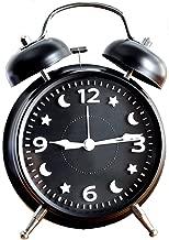 3次元デジタル画像の目覚まし時計かわいいスヌーズミュートレイジーダブルベルナイトライトモダンファッションシンプルなベッド美しい家クリエイティブパーソナリティマルチカラーオプション11.5cm * 5.5cm * 16cm CHENGYI (Color : Black)