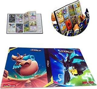 Card Holder Collection Handbook Trading Card Album for Pokemon Holds up to 240 Trading Cards (Eevee)