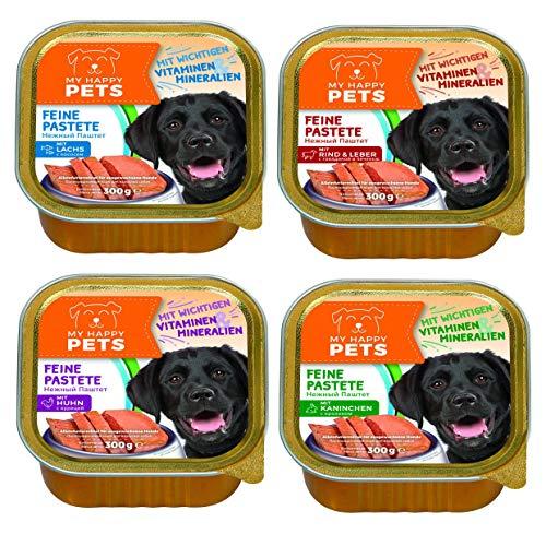 My Happy Pet´s Hundefutter Feine Pastete 4 Sorten 54 x 300g