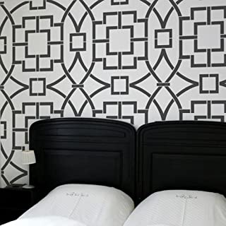 Tea House Trellis Allover Stencil - Beautiful stencils for DIY home decor