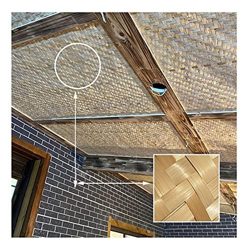 Sonnensegel Sichtschutznetz, Decke Dekoration Sonnenschutz Anti-UV Handgemacht Bambus Benutzt Für Schutz Der Privatsphäre Gartenzaun Glashaus Pavillon LJAINW (Color : Beige, Size : 1.4x15m)