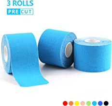 AUPCON Sports Kinesiology Tape Precut Muscle Tape Breathable Hypoallergenic Latex Free Water Resistant Pain Relief Knee Shoulder Elbow Ankle Injury Recovery Therapeutic Aid