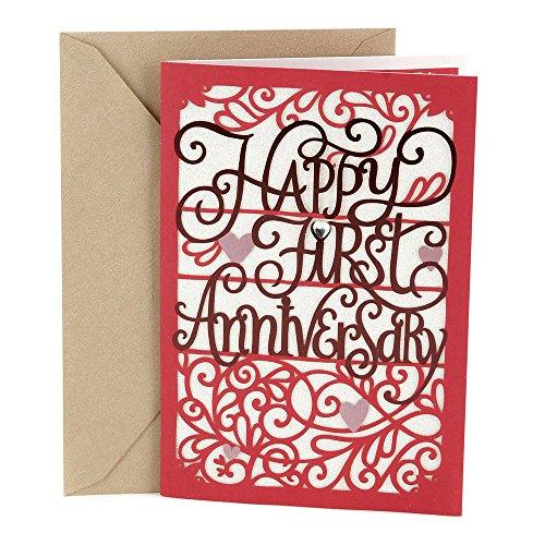 Hallmark 1st Anniversary Card (Happy First Anniversary) (0499RZB1105)