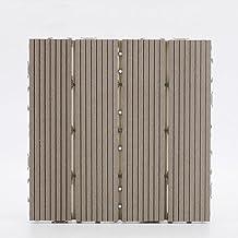 11 x composiet terrastegels, terrastegels antraciet terras in elkaar grijpende houten tegels vloeren met kliksysteem, 30 x...