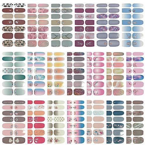 20 Stück Nagelaufkleber,Nail Art Aufkleber,Selbstklebende Nagelsticker Schöne Mode DIY Dekoration