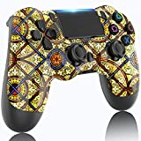 LITTJOY Game Controller for PS4 Controller, Remote Joystick Gamepad Compatible with PS System PS4/PS4 Slim/PS4 Pro Rechargeable Battery, Gyro and Speaker(Golden)