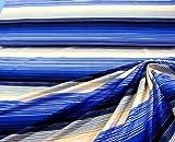 Stoff hochwertiger Feinjersey Jersey blau schwarz beige