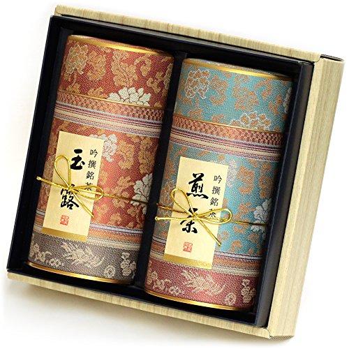 京都利休園 お茶 玉露・煎茶詰合せ<br /></noscript>玉露80g 煎茶80g MG-302