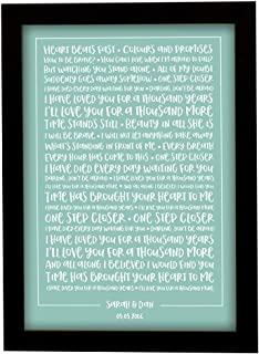 Christina Perri '1000 Years'- Contemporary Typography Song Words Print Framed & Personalised - Special Song Gift Perfect for Him, Her or Couple